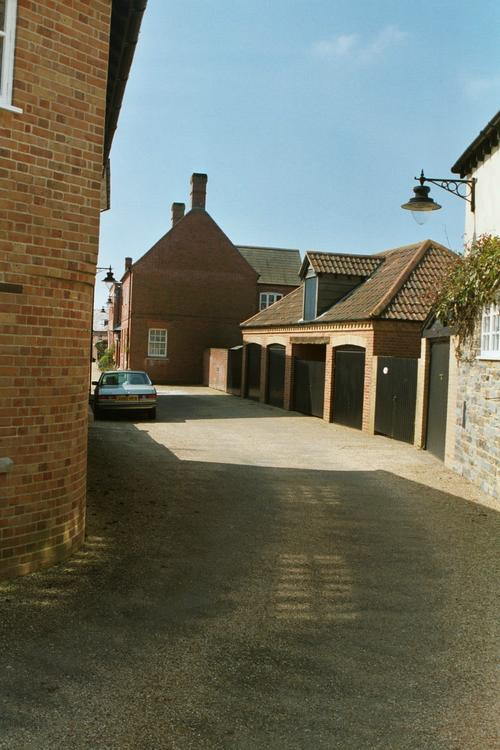 Garages in side lane
