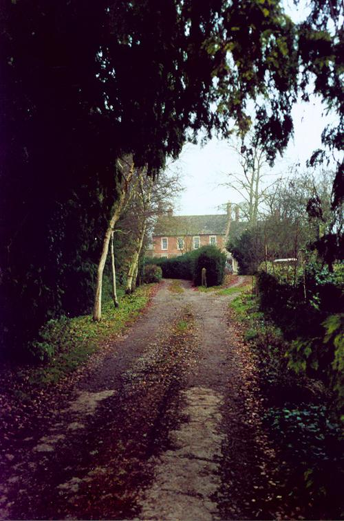 A lane in the village of Little Somerford